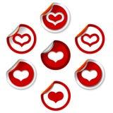 hjärtaetiketter Royaltyfria Bilder