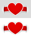 hjärtaetiketter Fotografering för Bildbyråer