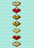 Hjärtaetiketter royaltyfri illustrationer