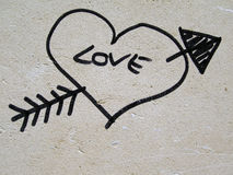 hjärtaförälskelse Arkivfoto