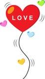 Hjärtaförälskelseballong Royaltyfria Bilder