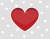Hjärtaförälskelsedesign Arkivbild