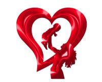 hjärtaförälskelsemoder s Arkivfoto