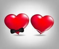 hjärtaförälskelsepar Arkivfoton