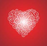 hjärtaförälskelsevektor Arkivbilder