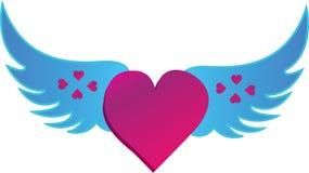 hjärtaförälskelsevingar Royaltyfri Fotografi