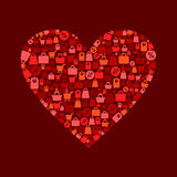 Hjärtaförsäljning Arkivfoton