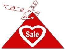 hjärtaförsäljning stock illustrationer