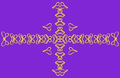 Hjärtafjärilsguling på en purpurfärgad bakgrund Arkivfoton