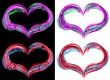 Hjärtaflammor vektor illustrationer