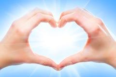 Hjärtaform Arkivfoto