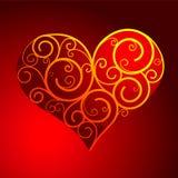 hjärtaform vektor illustrationer