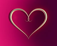 Hjärtaform för guld- cirkel Royaltyfri Foto