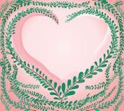 Hjärtaform i grön pastell spricker ut lagknappar, mexicansk tusenskönabakgrundsvektor vektor illustrationer