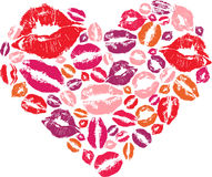 Hjärtaform med kyssar Royaltyfria Foton