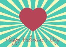 Hjärtaform på en solstråleillustration med conce för dag för valentin` s Royaltyfria Foton
