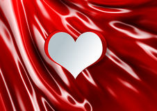 Hjärtaform på silke Royaltyfri Fotografi