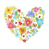Hjärtaform som göras med blommor Royaltyfri Foto