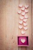 Hjärtaformmarshmallow Fotografering för Bildbyråer
