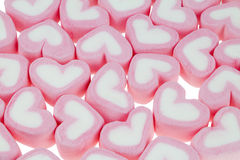 Hjärtaformmarshmallower Arkivbild