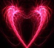 Hjärtafractalbakgrund Royaltyfri Bild