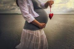 hjärtagravid kvinna royaltyfri fotografi