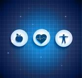 Hjärtahälsovårdbegrepp Fotografering för Bildbyråer