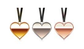 Hjärtahängeillustration isolerad halsbandwhite för bakgrund hjärta Hjärtatillbehör Royaltyfria Bilder