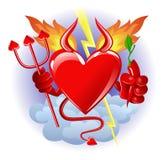 hjärtahelvete Arkivfoto