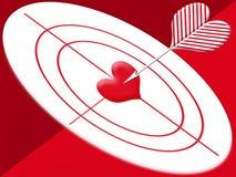 hjärtahitmål vektor illustrationer