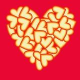 hjärtahjärtor Royaltyfri Illustrationer