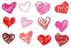 Hjärtaillustration. Förälskelse. Arkivbild