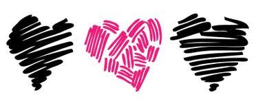 Hjärtaillustration. Förälskelse. Royaltyfria Bilder