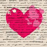 Hjärtaillustration. Förälskelse. Vektorbakgrund. Royaltyfri Fotografi