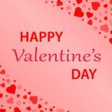 Hjärtakonfettier Valentin vektor illustrationer