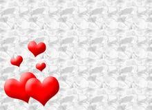 Hjärtakort vektor illustrationer