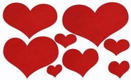 Hjärtakort för valentin eller bröllop. Royaltyfri Foto