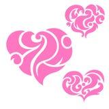 Hjärtakrusidullar stock illustrationer