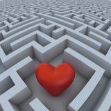 hjärtalabyrint royaltyfri illustrationer