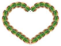 hjärtaleaves gjorde form Royaltyfria Bilder