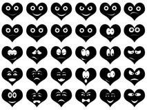 Hjärtaleenden Royaltyfri Illustrationer