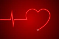 hjärtalinje Fotografering för Bildbyråer