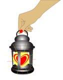 hjärtalykta vektor illustrationer
