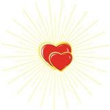 hjärtamankvinna Royaltyfri Fotografi