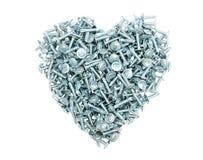 hjärtametall Fotografering för Bildbyråer