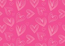 Hjärtamodell i gulliga rosa färger Royaltyfri Fotografi