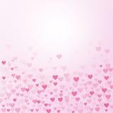 Hjärtamodell på lutningrosa färgbakgrund Arkivbild