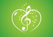 hjärtamusikalen bemärker ROM-minne vektor illustrationer