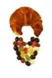 Hjärtan av den chokladgodisar och gifflet arkivbild
