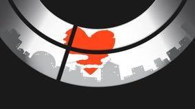 Hjärtan av staden Arkivfoto